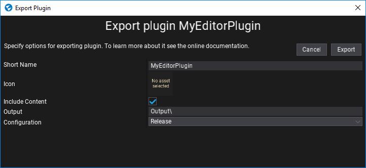 Export Plugin