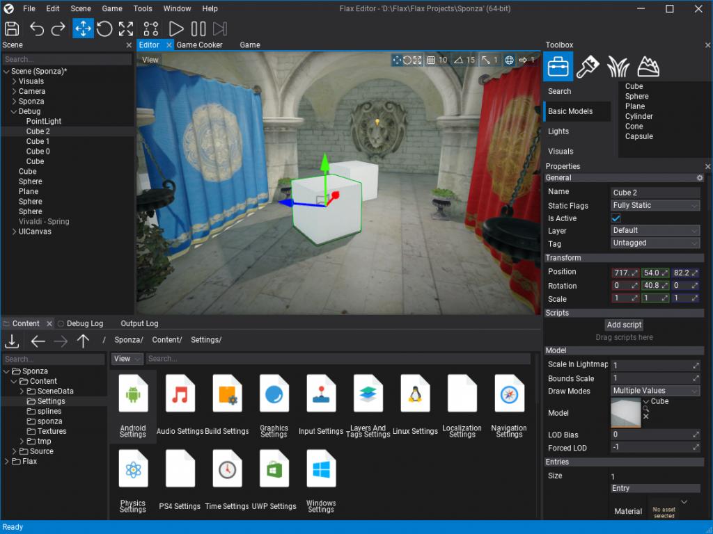 Flax Editor New UI