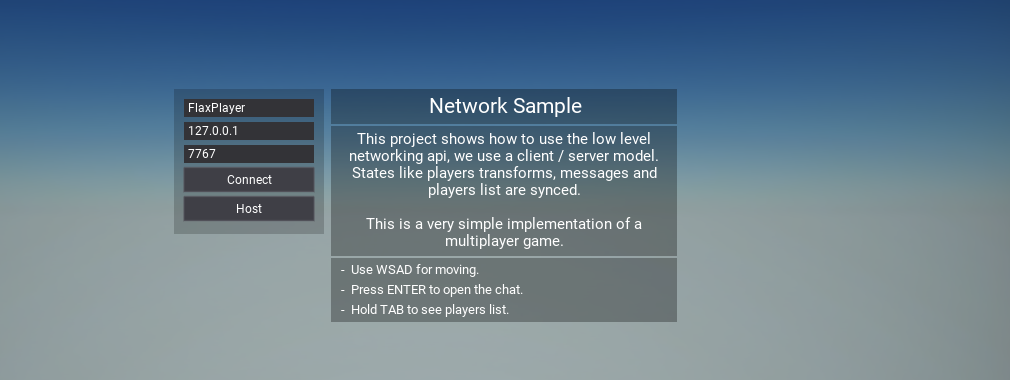 Network Sample Flax